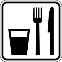 Essen Trinken Gaststätte Raststätte Schild Zeichen Symbol