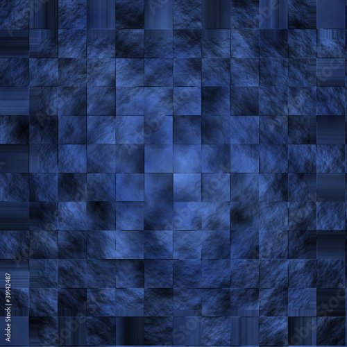 青いレンガの背景