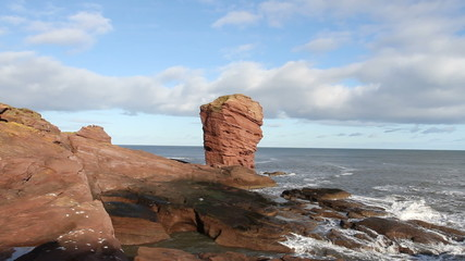 deil's heid sea stack near Arbroath Angus Scotland