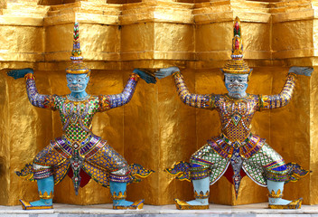 Guardian at Wat Phra Kaew Grand Palace Bangkok