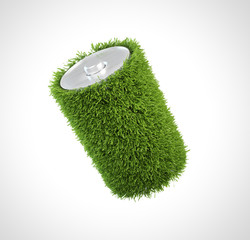 Grass covered battery