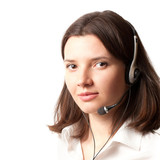 on-line consultant with headset