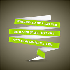 Vector Green speech bubble made from paper stripe