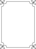 Simple vintage vector border frame