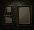 Wooden frames on the wall