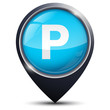 Symbole glossy vectoriel parking