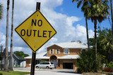 No outlet sign in Cocoa Beach, Florida
