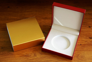Gift box on desk