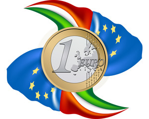 Euro con bandiere