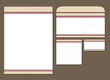 candy template blank, visiting card, notes and envelope
