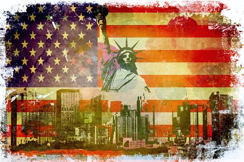Fototapeten,amerika,fahne,jahrgang,pop art