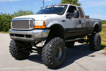 Monster truck in Florida parking lot