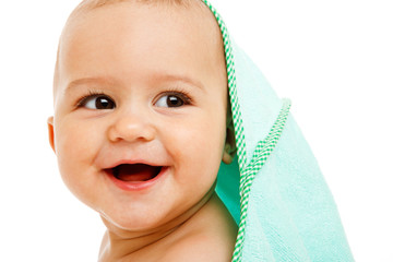 Laughing infant