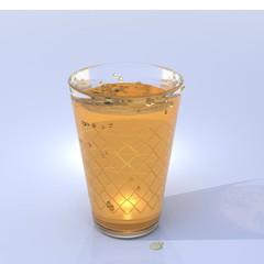Apfelwein Äppler im Glas