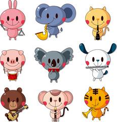 set of animal music player