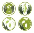 Collection of ecological symbols for eco design