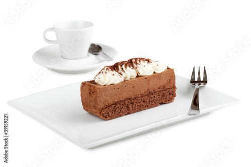 Schokoladentorte mit Sahne