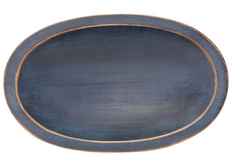 oval wood trencher dough bowl