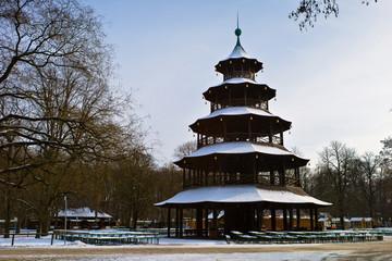 Chinese turm at english Garden, Munich, Germany