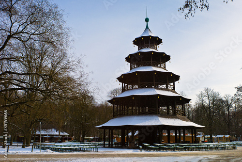 Chinese turm at english Garden, Munich, Germany