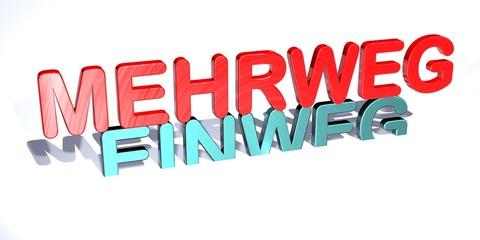 3D Gegensätze - MEHRWEG - EINWEG