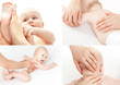 Leinwanddruck Bild - kleinkind körperpflege