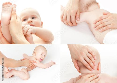 Leinwandbild Motiv kleinkind körperpflege