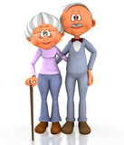 3D grandpa and grandma