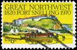 Leinwanddruck Bild - USA - CIRCA 1970 Fort Snelling