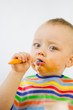 Eating Babies Food Messily