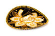 Black Decorated mariachi sombrero on white