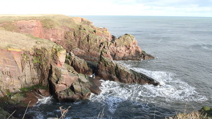 Seaton cliffs near Arbroath Angus Scotland