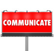 Communicate Word Large Billboard Share Information