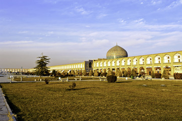 evening at Naqsh-e Jahan Square in Isfahan, Iran