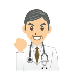 医者 C 表情 ガッツポーズ