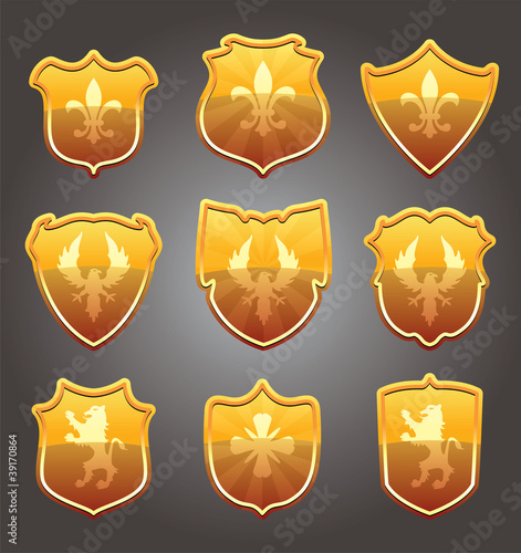 vector set of shields