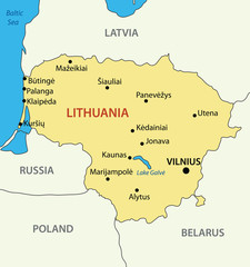 Republic of Lithuania - vector map
