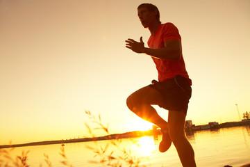 running on sunset