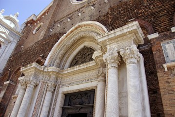 A detail of the San Giovanni in Venice in Italy