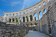 ancient amphitheater in Pula, Croatia