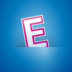 Logo slot with letter E # Vector
