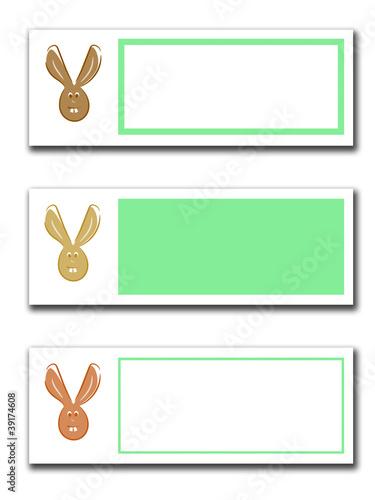 Etikett für Ostern