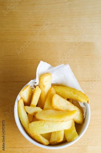 Bowl of Chips Overhead