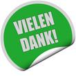 Sticker grün rund VIELEN DANK!