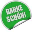 Sticker grün rund DANKE SCHÖN!