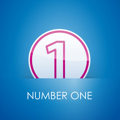Logo slot with number one # Vector
