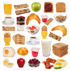 Various types of breakfast