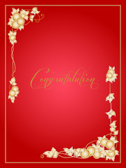 Greeting card with gold apples