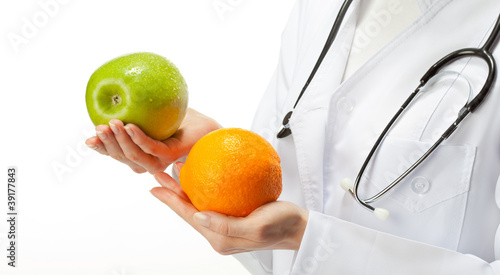 Doctor prescribing healthy eating