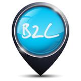 Symbole glossy vectoriel entreprise B2C poster